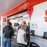 Interiér Google kamionu