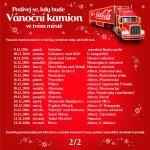 Trasa Vánočního kamionu Coca-Cola 2016