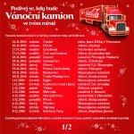 Trasa Vánočního kamionu Coca-Cola