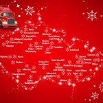 Trasa Vánočního kamionu 2016